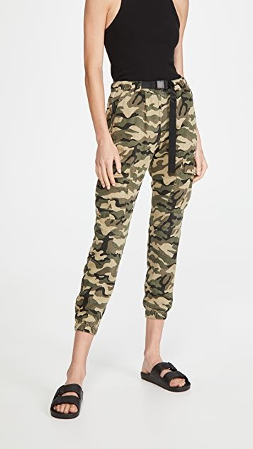 X20 Camo Cargo Pants With Belt