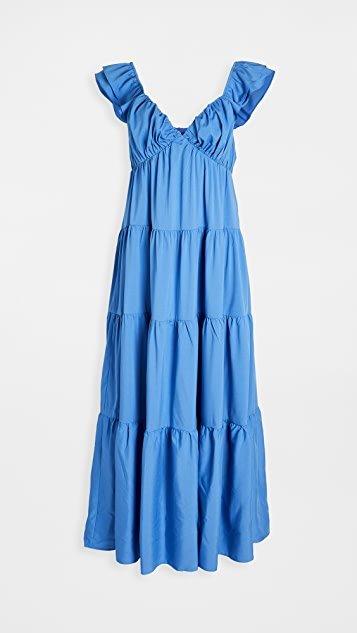 Ruffle Sleeve Maxi Dress