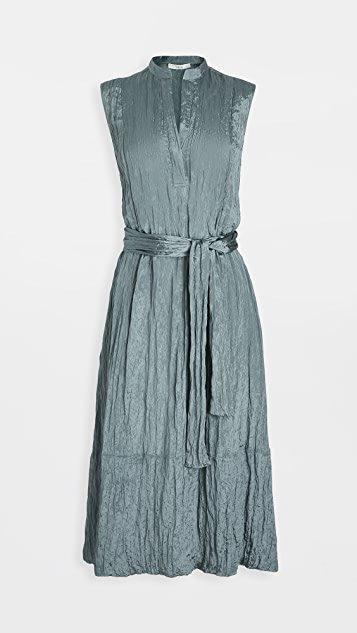 Textured Sleeveless Popover Dress