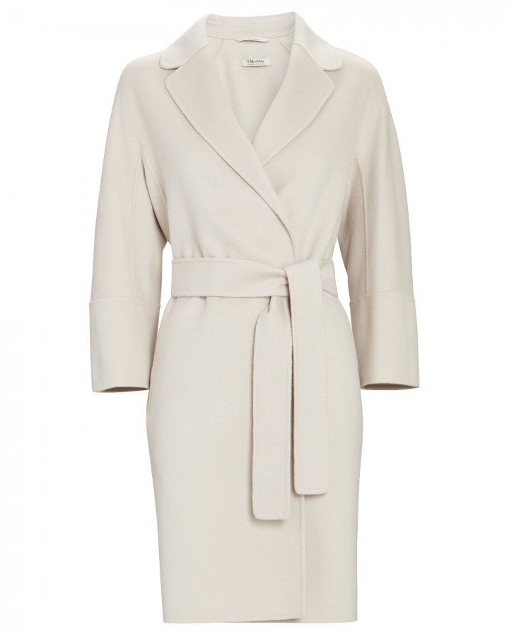 Arona Belted Wool Wrap Coat