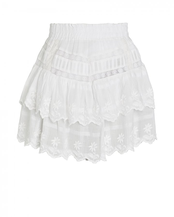 Emilia Cotton Eyelet Mini Skirt