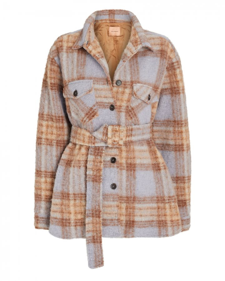 Evita Checked Shirt Jacket