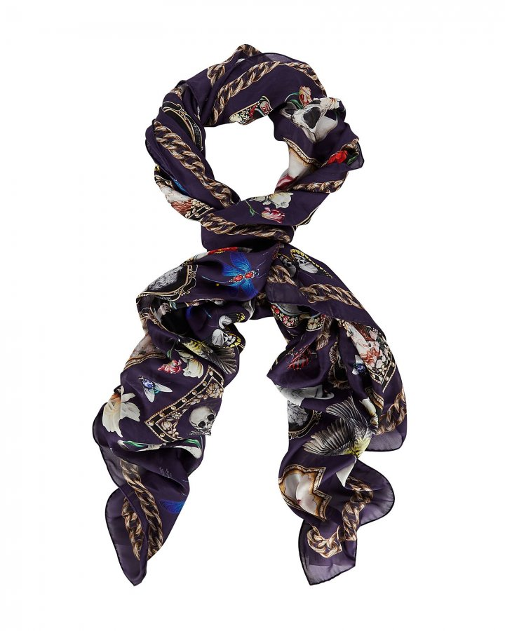 Cameo And Curiosities Silk Scarf