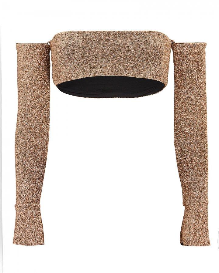 Skylar Lurex Bandeau Bikini Top