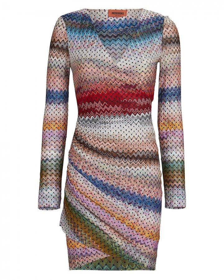Knit Wrap Mini Dress