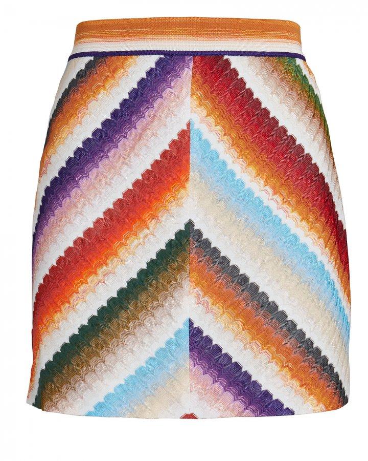 Chevron Knit Mini Skirt