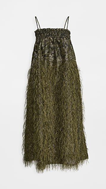 Feathery Cotton Sleeveless Dress