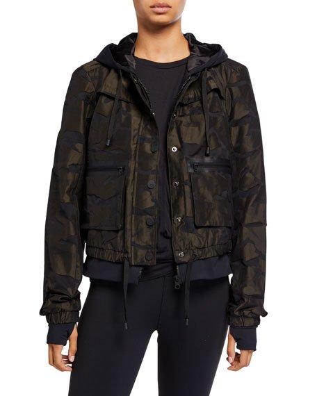 Skyfall Camo-Print Aviator Jacket