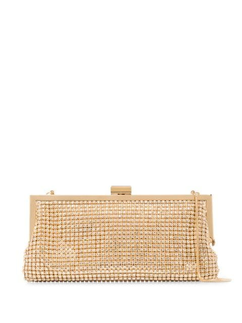 Black & Brown Laura Crystal Clutch Bag