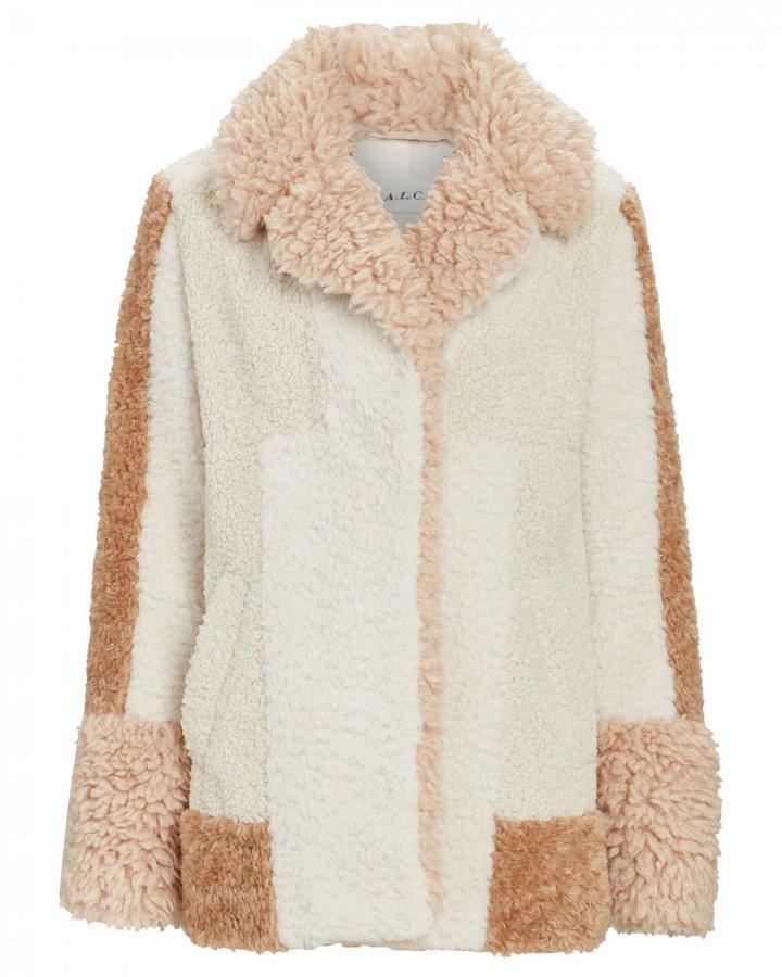 Stan Patchwork Faux Fur Jacket