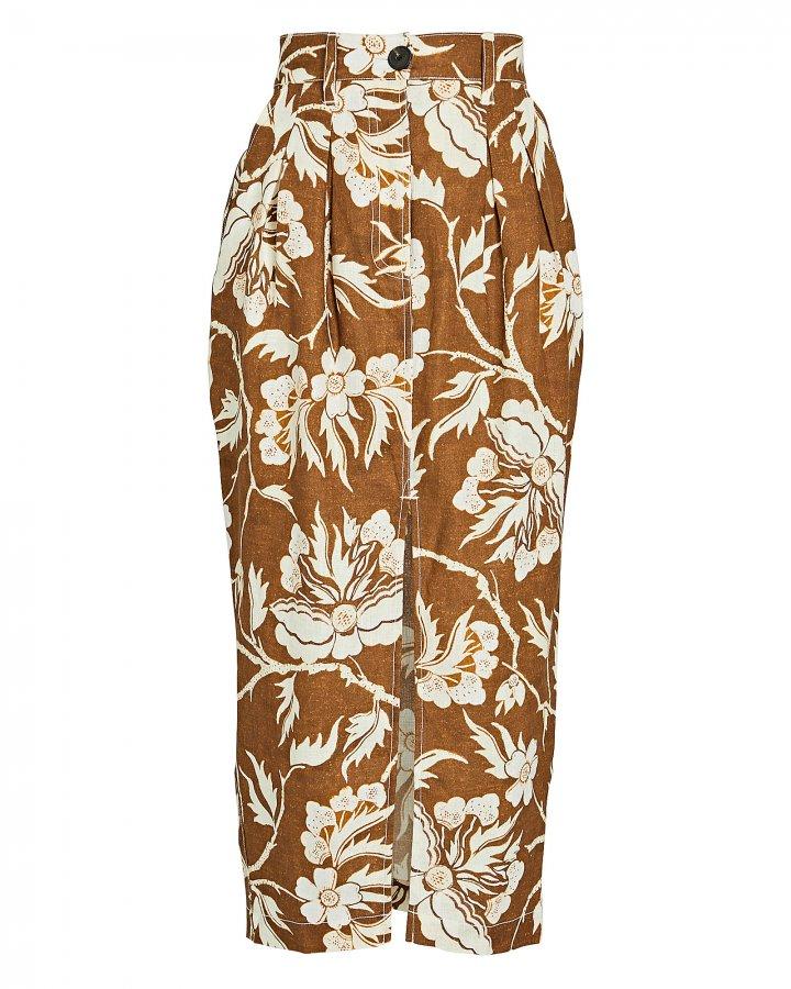 Florence Floral Midi Pencil Skirt