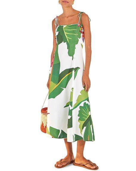 Tropicalistic Midi Dress