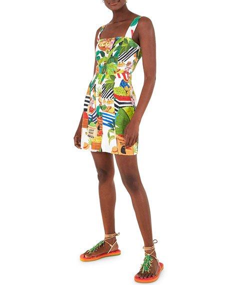 Tropical Fair Linen Mini Dress