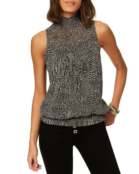 Joyce Printed Silk Top