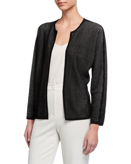 Silk/Organic Cotton Open Cardigan