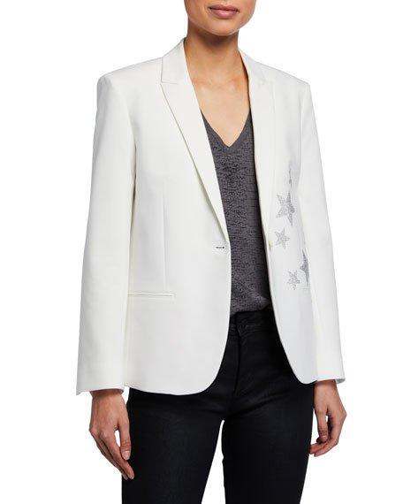 Vedy Star Single-Button Jacket