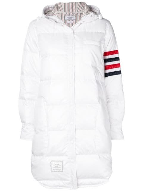 Thom Browne Hooded Down Ripstop Shirtdress Aw20 | Farfetch.Com