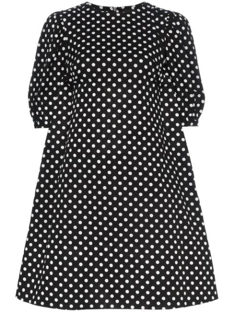 Paskal polka dot print flared cotton mini dress SS19 | Farfetch.com