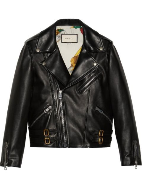 Gucci Plongé Leather Biker Jacket Aw20 | Farfetch.Com