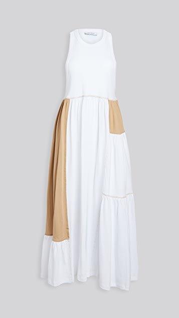 Patchwork Sleeveless Maxi Dress