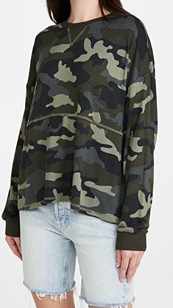 Nothin\' To See Here Camo Sweatshirt