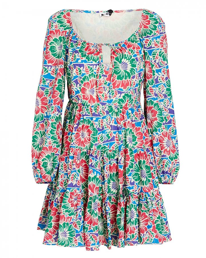 Roxy Hibiscus Floral Mini Dress