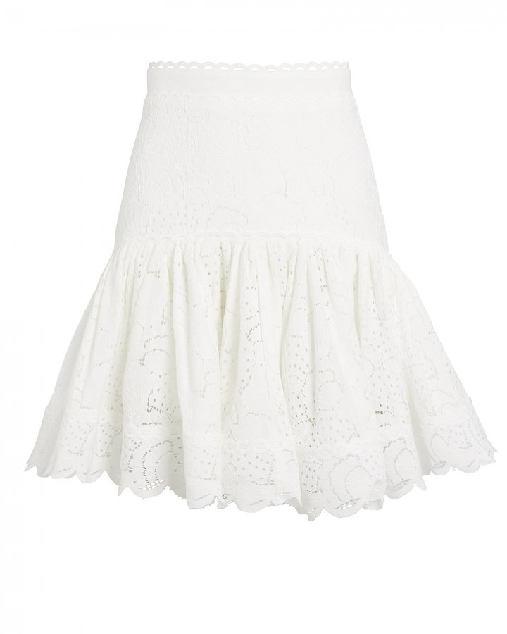 Cookes Lace Flounce Mini Skirt