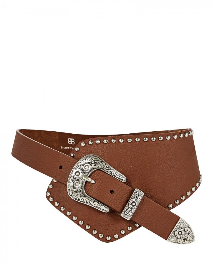 Bea Studded Asymmetric Leather Belt