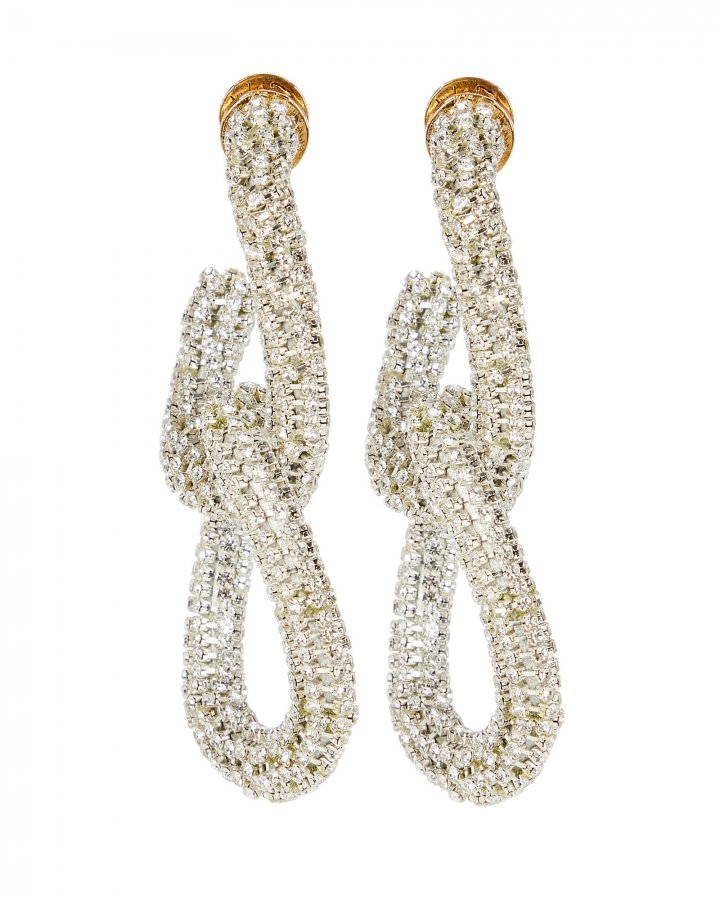 Crystal Beaded Link Earrings