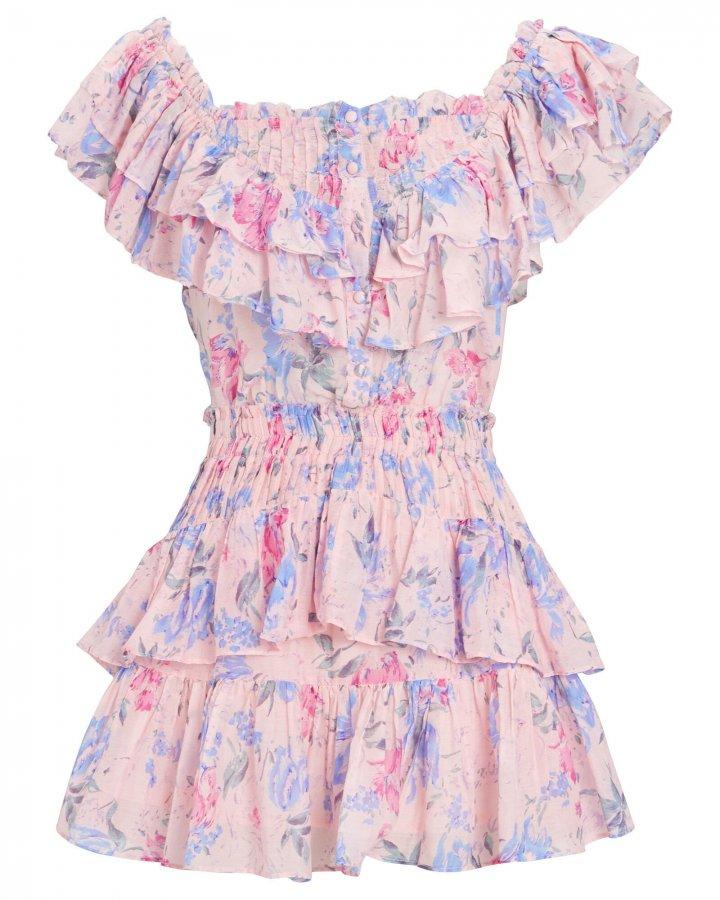 Fatima Floral Print Mini Dress