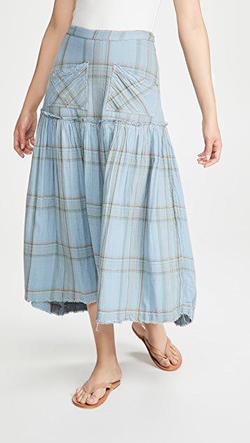 Plaid Forever Midi Skirt