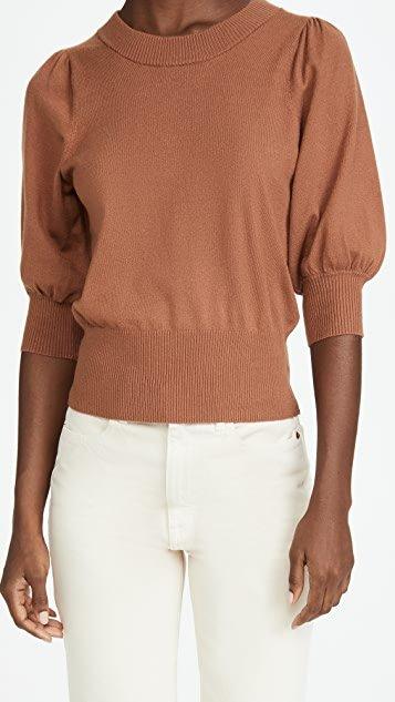 Girl Next Door Puff Sleeve Sweater