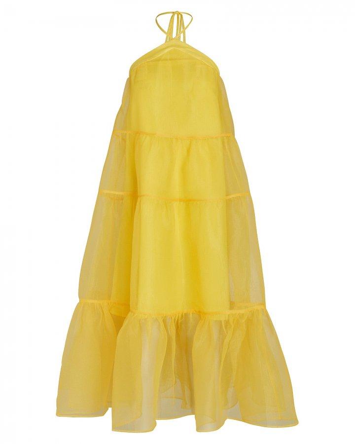 Mila Tiered Halter Midi Dress