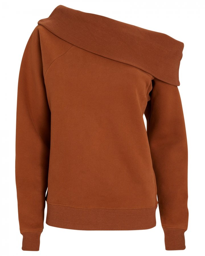One-Shoulder Sweatshirt