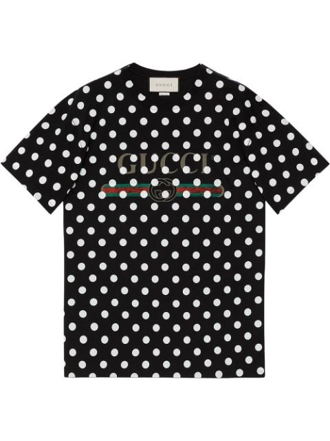 Gucci Logo Polka Dot-Print T-Shirt Ss20   Farfetch.Com