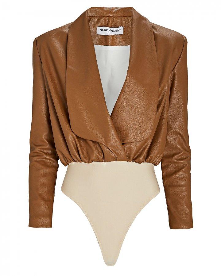 Caraline Vegan Leather Bodysuit