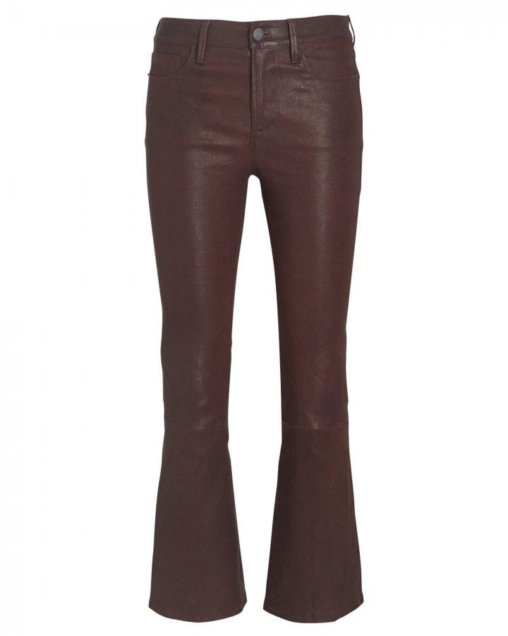 Le Crop Mini Boot Leather Pants