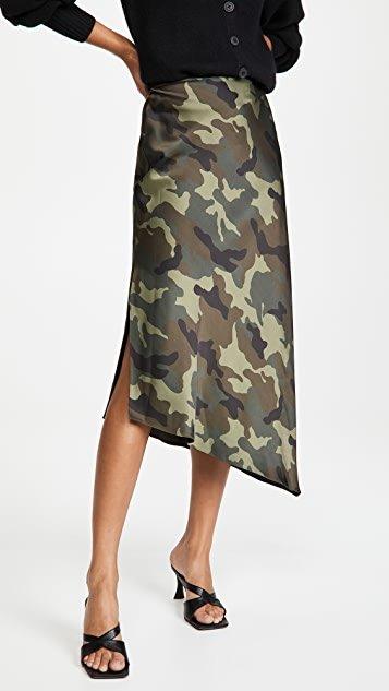 Maeve Asymmetric Slip Skirt