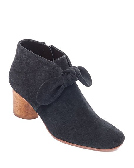 Ilanna Suede Knotted Zip Booties