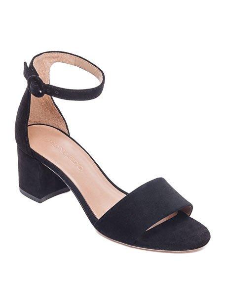Belinda Suede Ankle-Strap Sandals
