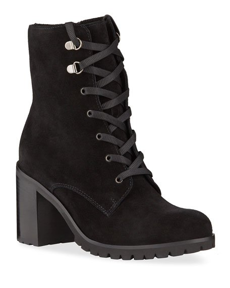 Parkera Suede Lace-Up Booties