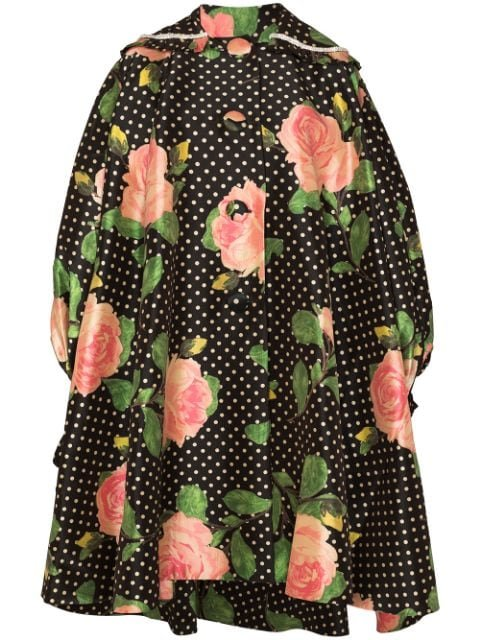 Richard Quinn Oversized Floral polka-dot Print Coat