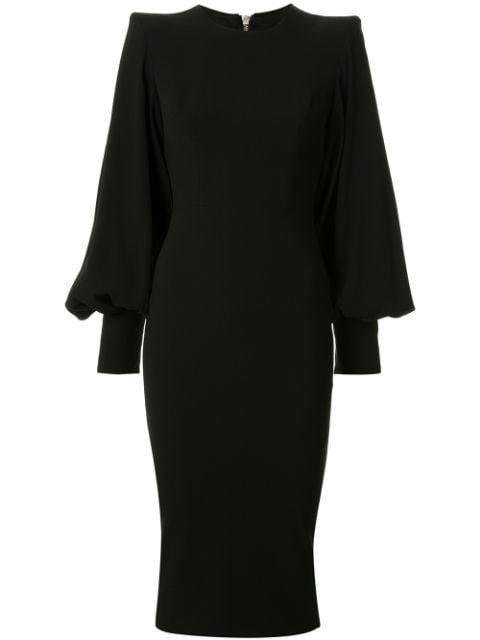 Alex Perry Blunt Bishop-Sleeves Dress Ss20 | Farfetch.Com