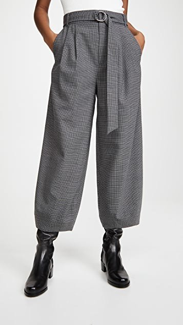 Sculpted Pants with Removable Belt