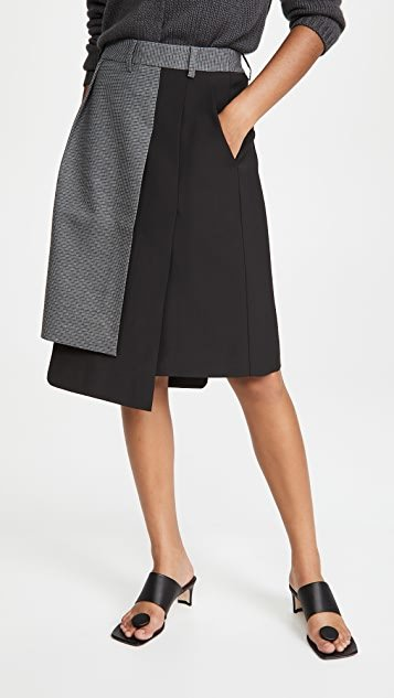Auguste Houndstooth Flap Skirt