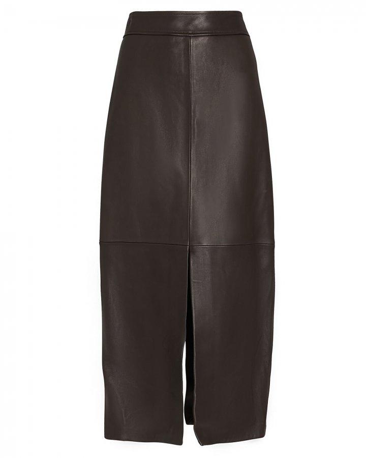 Moss Vegan Leather Skirt