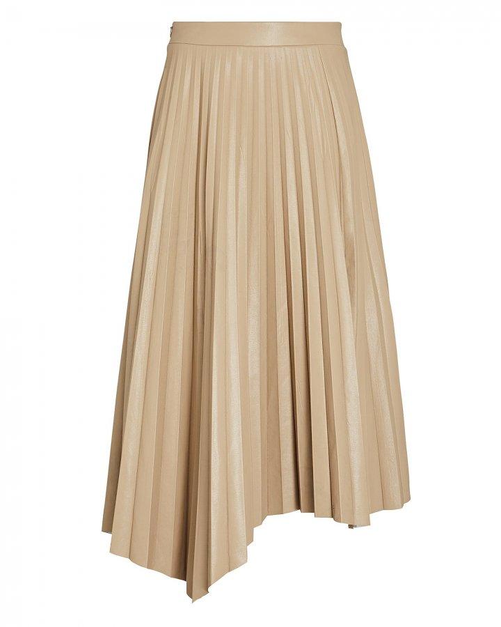 Jayla Pleated Vegan Leather Skirt