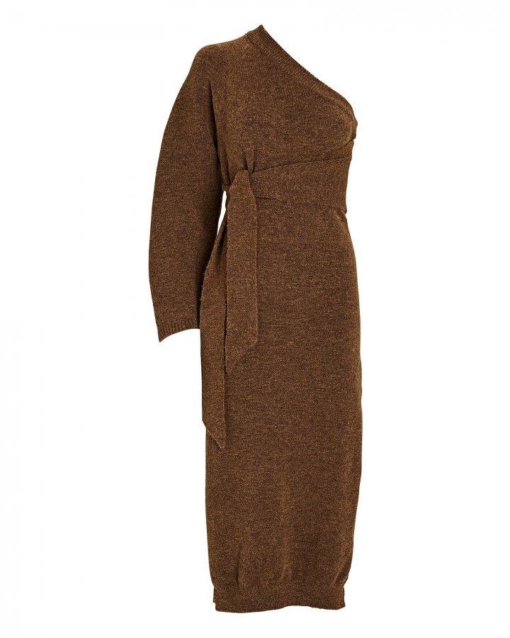 Cedro One-Shoulder Knit Midi Dress
