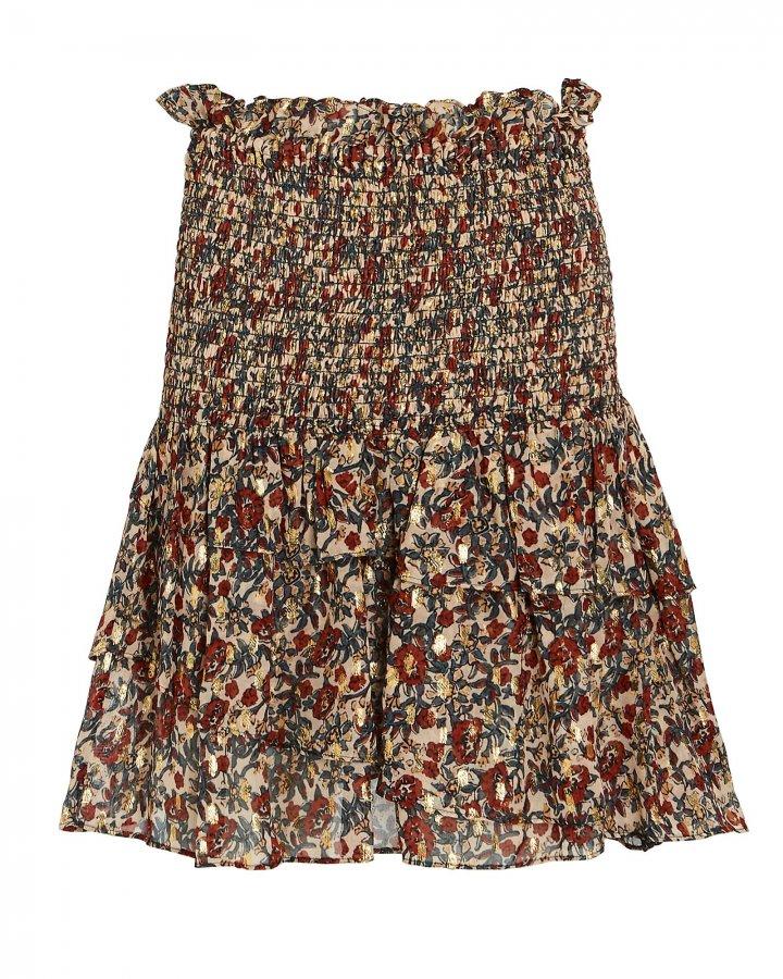 Josephine Ruffled Floral Mini Skirt