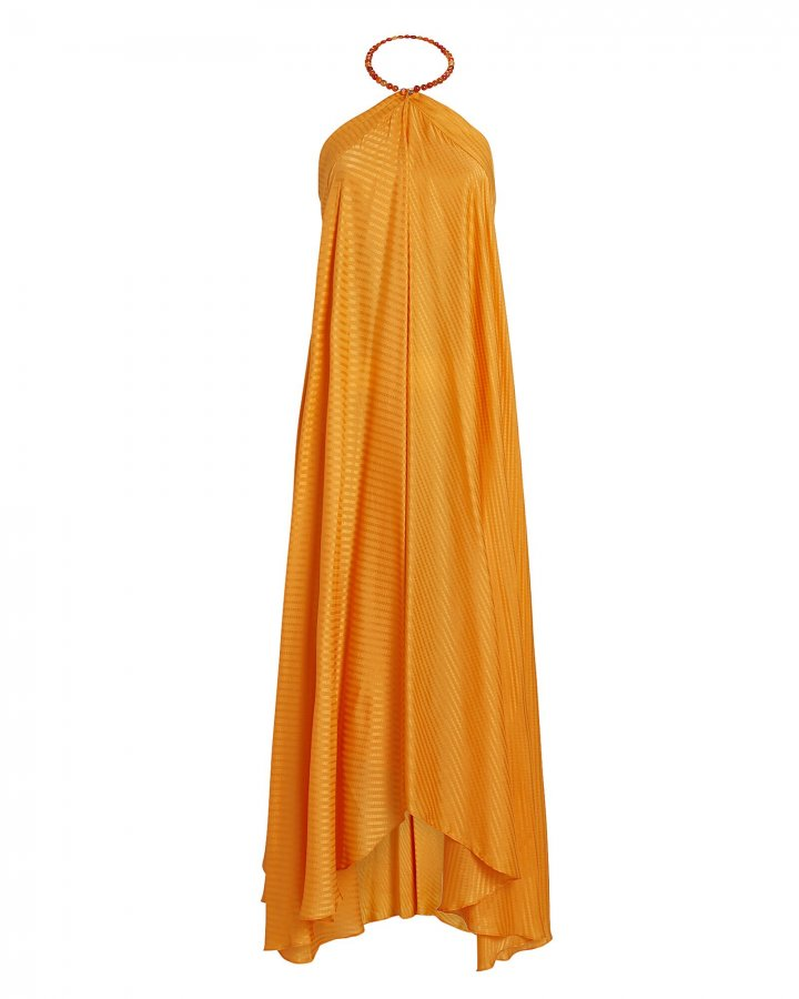 Terrazza Silk Halter Maxi Dress